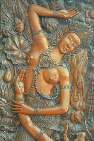 antique furniture: Wood carving background