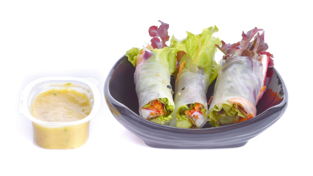 salad Rolls Stock Photo