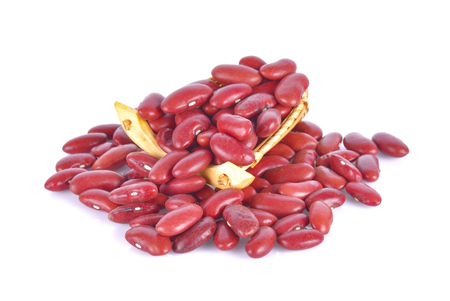 red beans isolated on white background Stock Photo