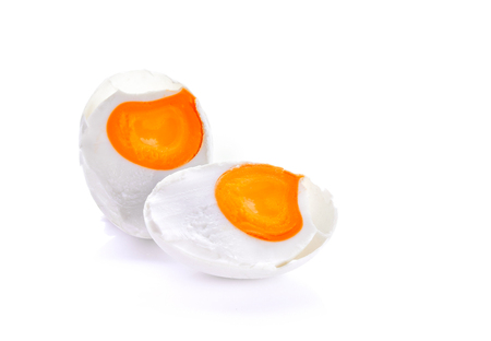 Salted eggs on a white background Stock fotó