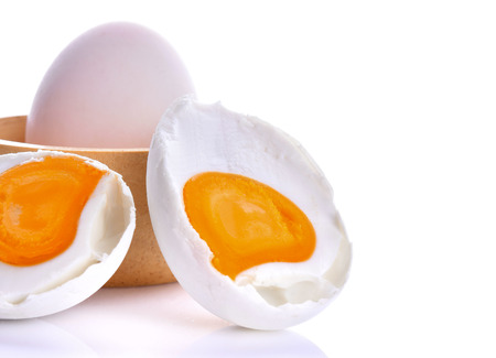 Salted eggs on a white background Stock Photo