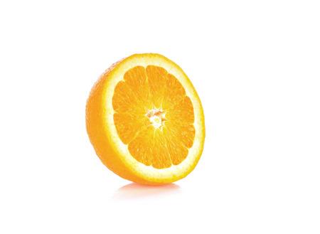 segmento: Piece Orange on white background Foto de archivo