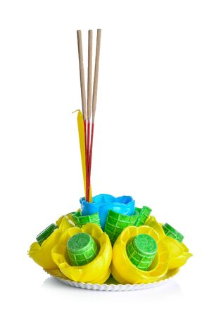 Krathong on a white background