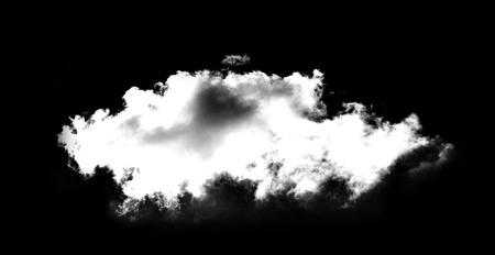 white clouds in the Black sky