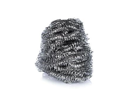 Steel wool on white background Banco de Imagens - 90239063