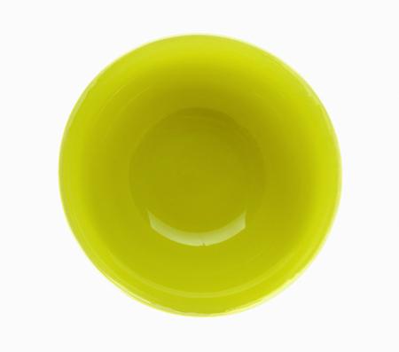 Yellow bowl on white background Stock Photo
