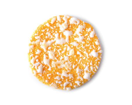 Japanese fragrant rice cake on white background