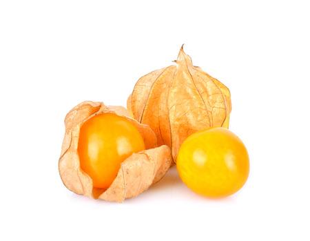 Cape Gooseberry on a white background Standard-Bild