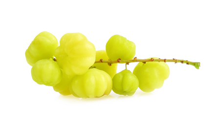 Star gooseberry on white background Stockfoto