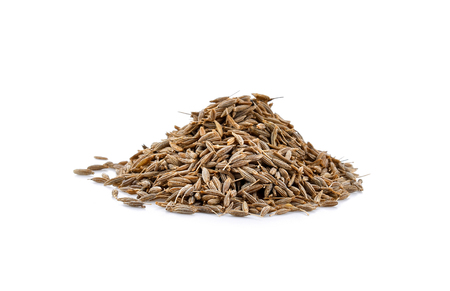 caraway seeds isolated on white background