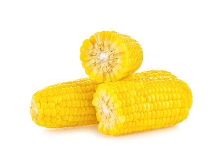 sweet corn isolated on white background 写真素材