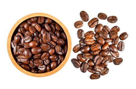 grano de café aislado sobre fondo blanco