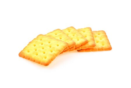 Crackers sheet on white background