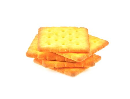 Crackers sheet on white background