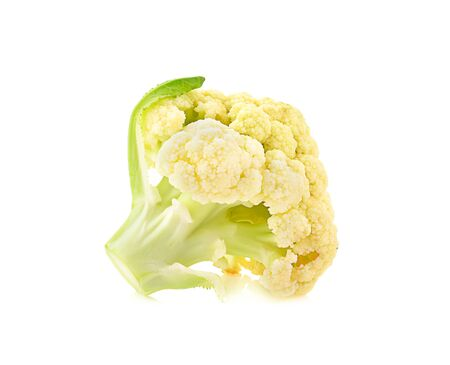 Cauliflower piece on white background