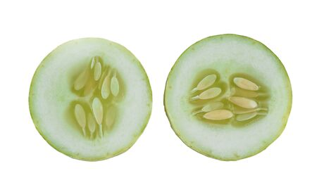 cucumber piece on white background
