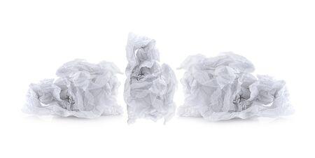 Toilet paper on white background Banco de Imagens