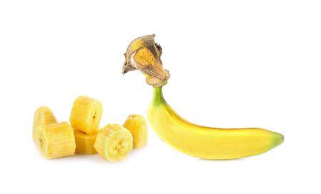 banana isolated on white background Banco de Imagens