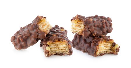 Chocolate Coated Wafer on a white background