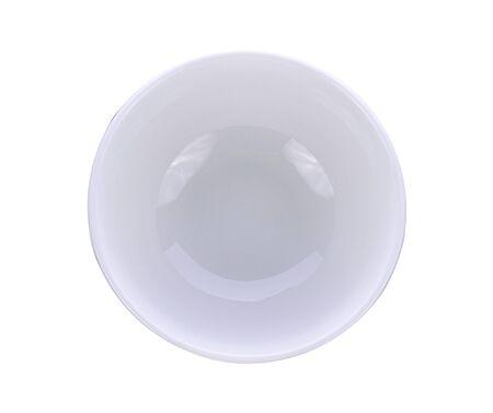 White plate on the white background Banco de Imagens