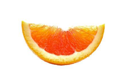 orange slice on white background Banco de Imagens