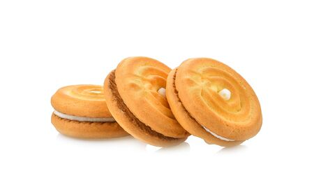 cookie piece on white background