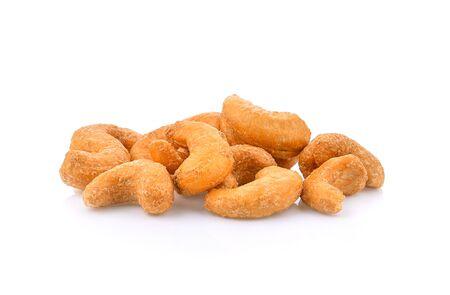 Cashews isolated on white background
