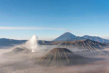 volcano: Sunrise at Bromo mountain, Indonesia