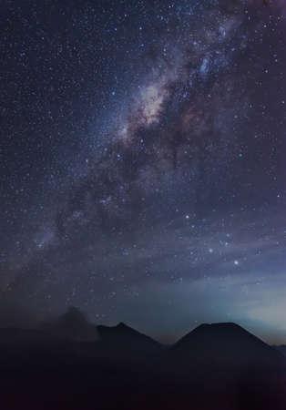 milkyway: Milky way above Bromo mountain.