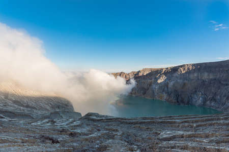 Kawah Ijen Volcano, East Java island, Indonesia