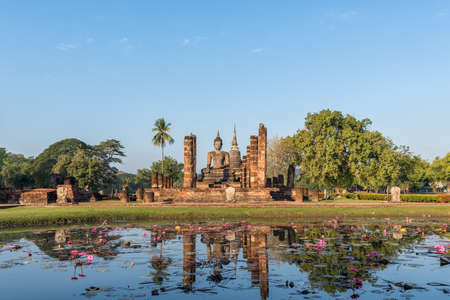 asian art: Sukhothai Historical Park, World heritage site in Thailand.