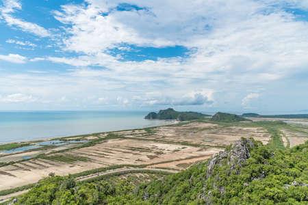 The coast of Gulf of Thailand , Khao Sam Roi Yot National Park. Stock Photo