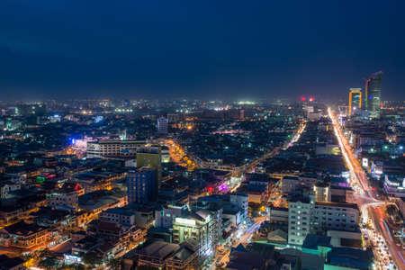 phnom penh: PHNOM PENH, CAMBODIA -  Scene of night life at most popular tourist street  in capital city Phnom Penh, Cambodia Editorial