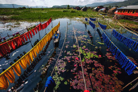 Burmese dry thread the Handmade colourful lotus fabrics