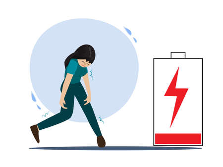 Women with a low-energy state, physical or emotional exhaustion, mental exhaustion, low battery needs to be recharged.