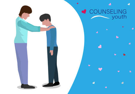Family Counseling A father is introducing his son's lifestyle, accepting frustrations. And build up strength