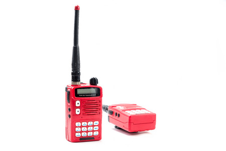 cb phone: A couple of portable radio transceiver  Stock Photo