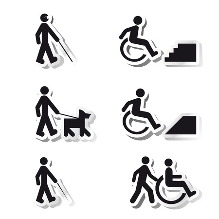 picto: Stickers about handicap