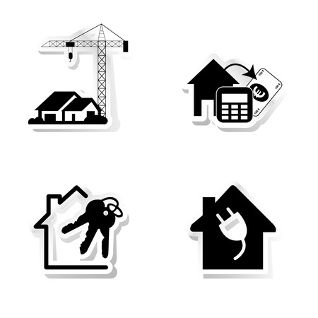Stickers about real estate Vector