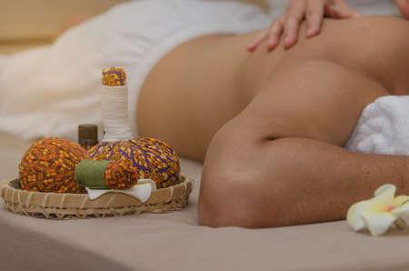 Background blur of Thai spa.
