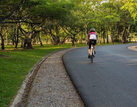 adventuring: bicycle riding. Stock Photo