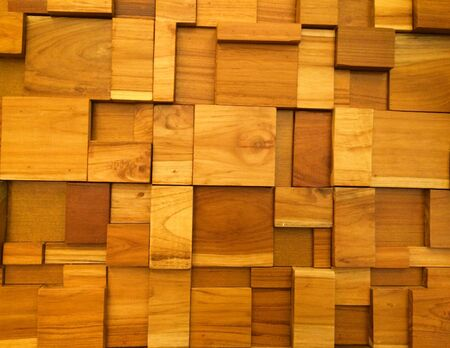 decor: Brown wooden wallpaper on office Stock Photo