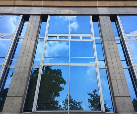 reflective: Reflective sky on glass building
