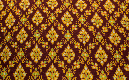 get dressed: Thai style fabric pattern Stock Photo