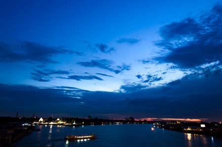 skyscape: skyscape on the river Stock Photo