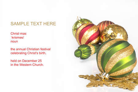 christmas theme with text space Imagens
