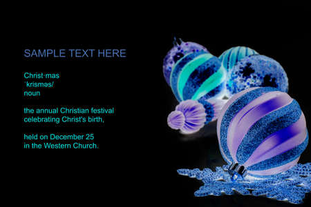text space: christmas theme with text space Stock Photo