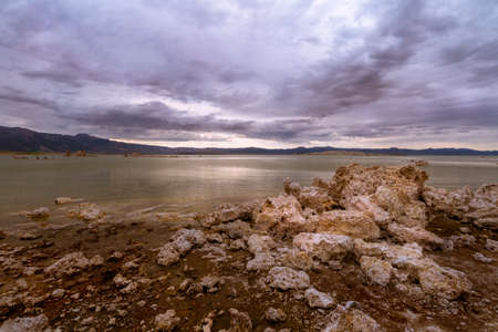 an evening with Tufa towers on the Monolake shores