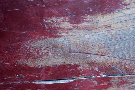 red color painted on wood