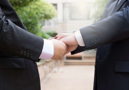 homosexual partners: gay couple exchanging vow